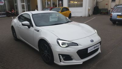 Subaru BRZ 2.0i SE Lux 2dr Coupe Petrol Crystal White Pearl at Bagot Road Garage Ltd Jersey